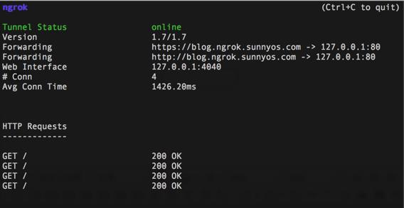 搭建属于自己的ngrok服务器,实现内网穿透,外网访问内网,可本地开发微信不需要上传服务器